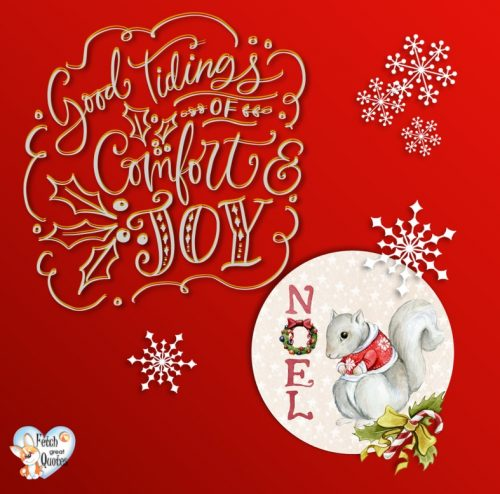Red Noel photo, Red Christmas photo, Good tiding of comfort and joy photo