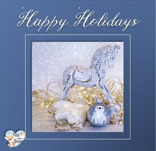 Blue and white Christmas photo, Happy Holidays , clean design Holiday photo
