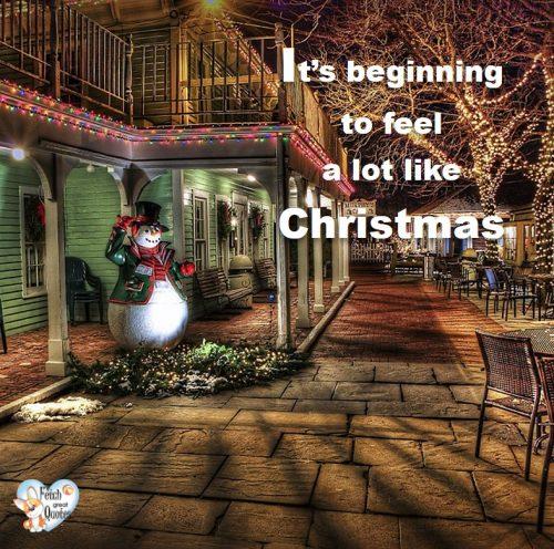Christmas photo, Snowman photo, Christmas lights photo, It's beginning to feel a lot like Christmas photo, urban Christmas photo, small town Christmas