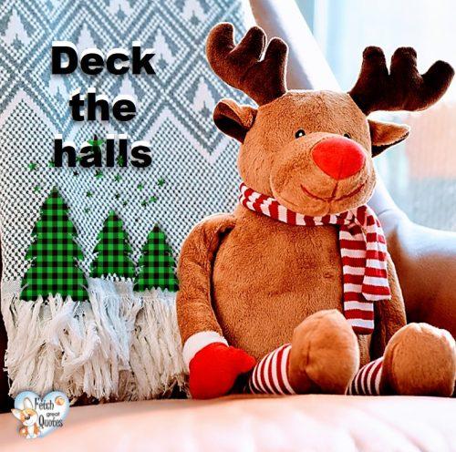 Deck the halls, Christmas season photo, winter holidays photo, cute holiday photo