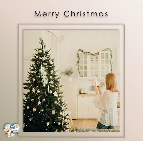 Merry Christmas photo, modern Christmas photo, Christmas tree, White Christmas photo