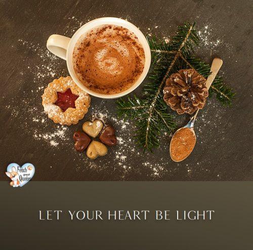 Christmas season photo, Let your heart be light, Christmas treats photo