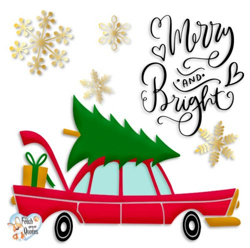 Retro Christmas photo, Merry and bright photo