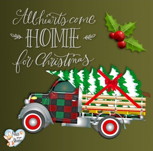 All hearts come home for Christmas photo, Christmas photo, Christmas truck photo