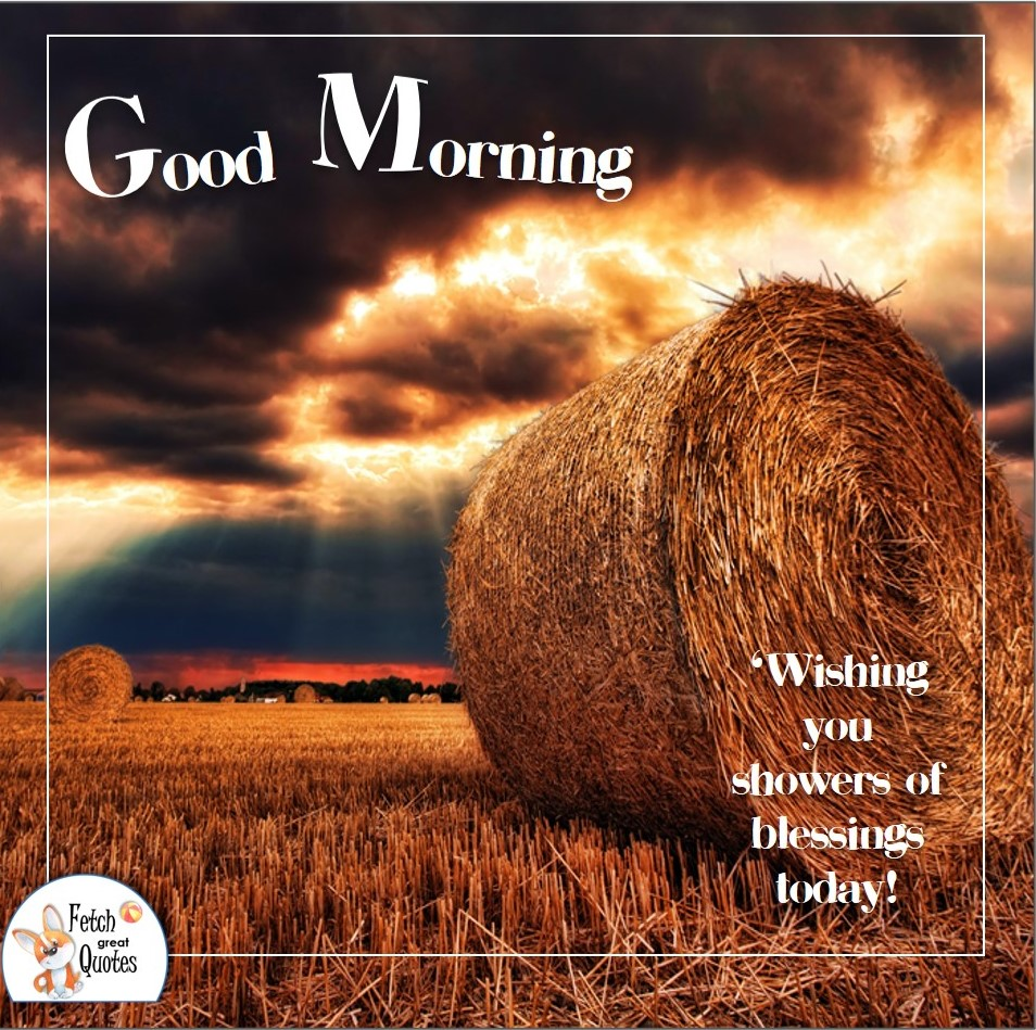 hay bail, hay field, thunder sky, dark sky, Wishing you showers of blessings today, Country Morning, Good Morning, Country Good Morning, sunny morning, , good morning blessings, Country blessing, Good morning wishes, free country good morning photos, countryside photos,country girl morning, Country blessing, American country, down country, American country