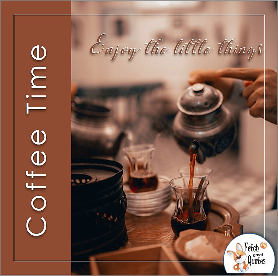 Hot coffee good morning photo, pouring coffee, enjoy the little things photo