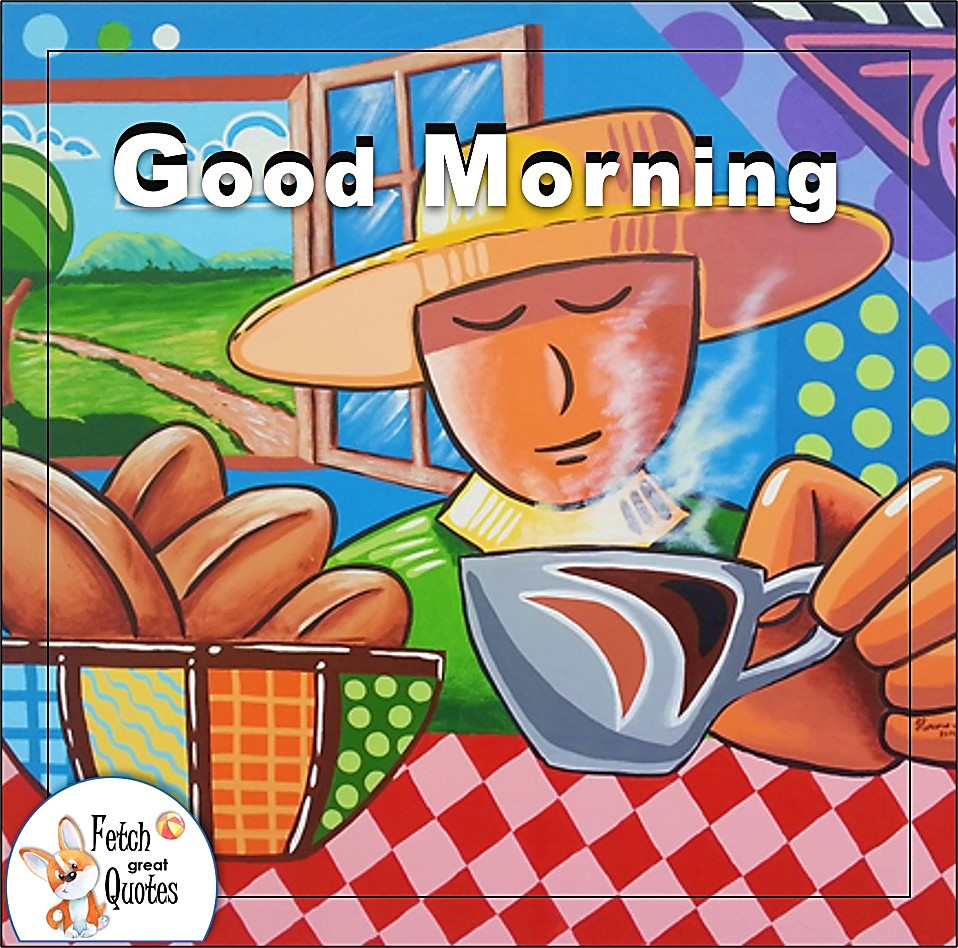 Latin theme good morning coffee photo