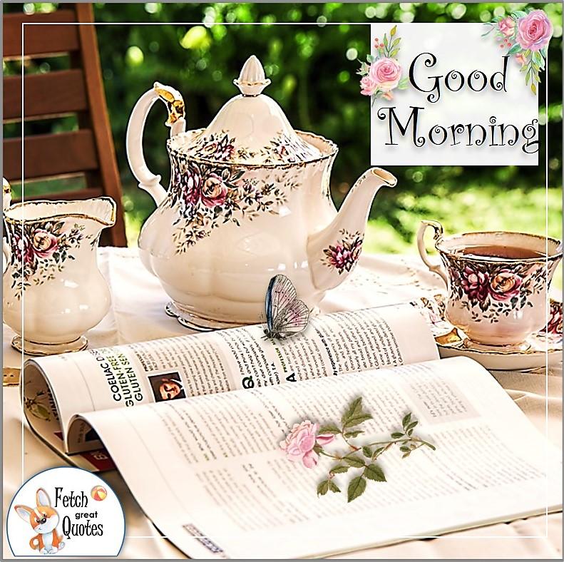 pretty teapot, good morning tea photo, china teapot
