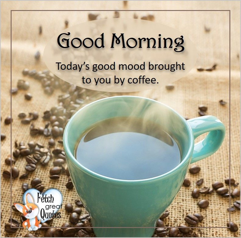 Good morning, Today's good mood brought to you by coffee., Good Morning photos, Good Morning Coffee photos, Coffee photos, Funny Coffee photos, humorous coffee photos, funny coffee sayings, coffee quotes, coffee lover, Coffee themed photos, coffee themed good morning photos