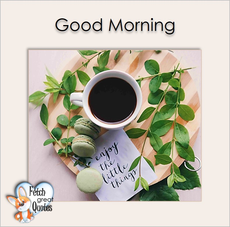 Good morning, Enjoy the little things, Good Morning photos, Good Morning Coffee photos, Coffee photos, Funny Coffee photos, humorous coffee photos, funny coffee sayings, coffee quotes, coffee lover, Coffee themed photos, coffee themed good morning photos