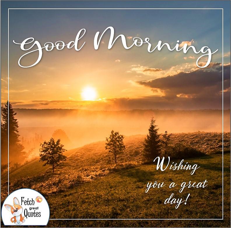 Golden sunrise good morning photo, wishing you a great day photo