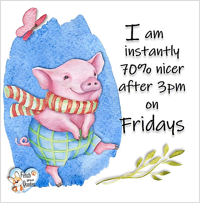 Free Friday Quotes, Happy Friday Photos, Friday photos, Fun Friday quotes, fun Friday photos, I am instantly 70% nicer after 3pm on Firdays
