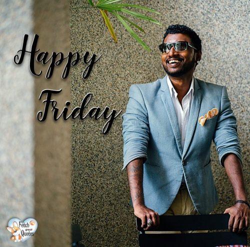 Black guy Happy Friday photo