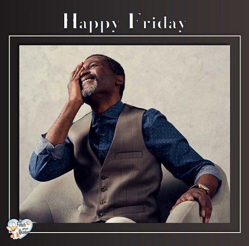 Black man Happy Friday photo