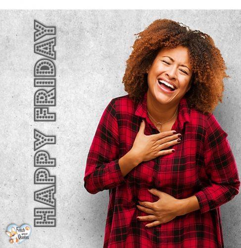Black woman Happy Friday photo