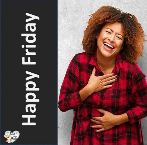 Laughing Happy Friday photo, black woman Happy Friday