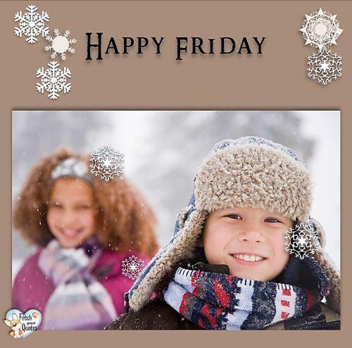 cute kids Happy Friday photo