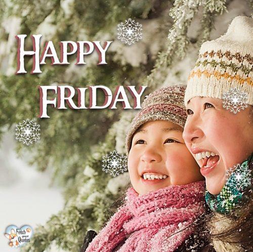 Mom and child Happy Friday photo