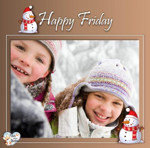 Free Winter Happy Friday photo