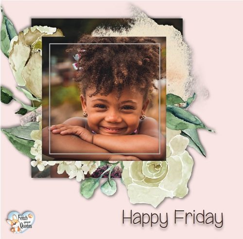 little black girl Happy Friday photo