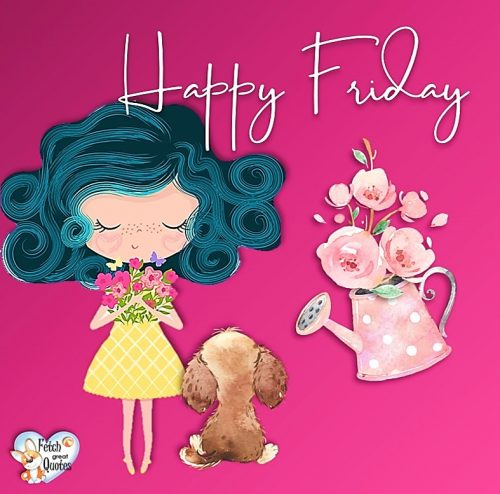 Facebook cute Happy Friday girl photo
