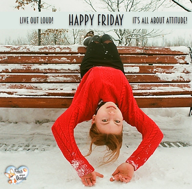 Live out loud! It's all about attitude!, Happy Friday, Happy Friday photos, fun Friday, funny Friday, Friday smile, Friday fun, start the weekend, start your weekend, free happy Friday photos, Friday morning