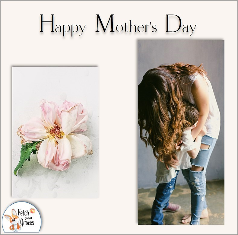 Happy Mother's Day, soft pink rose Mother's day, Mother and child