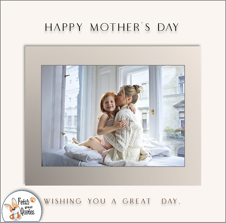 Happy Mother's Day photo, clean modern design, Wishing you a great day