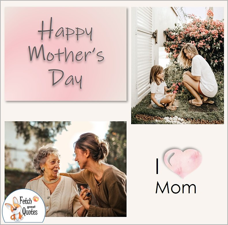 Happy Mother's Day photo, Mom and child, mom and adult daughter, I heart Mom