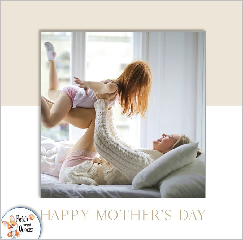 clean design Happy Mothers Day photo, modern mom, Happy Mother's day photo, mother and child photo