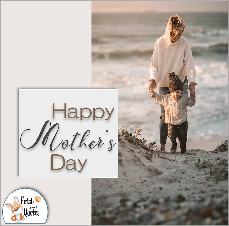 Modern design Happy Mother's Day photo, Mom and child,