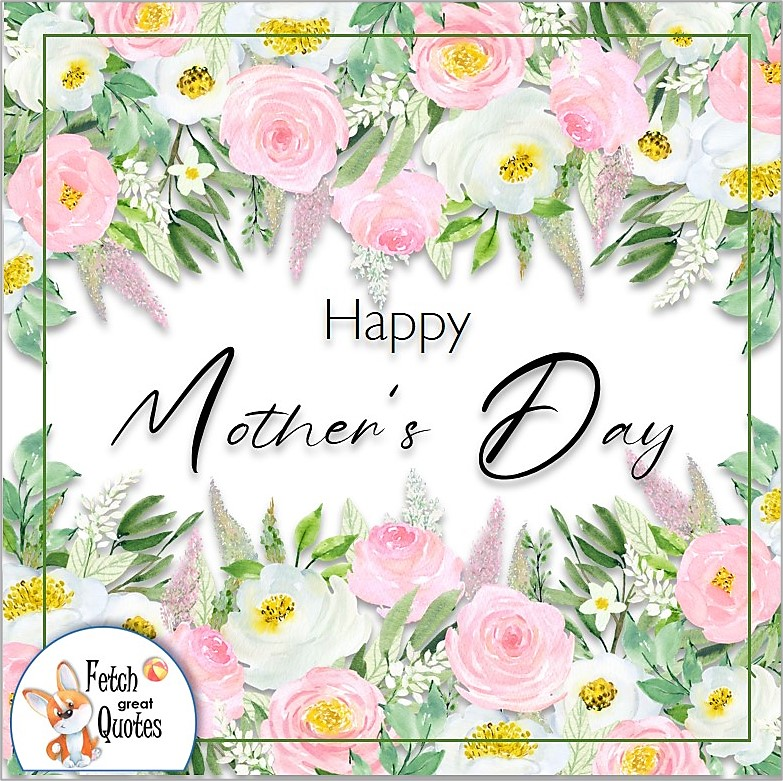 Beautiful pink and white flower Happy Mother's day photo