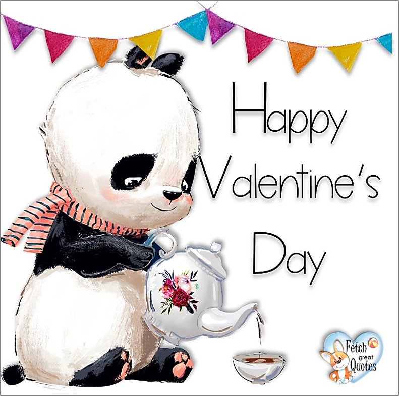 Valentine bear, panda bear, Happy Valentine's Day, Valentine's Day, Valentine greetings, holiday greetings, Valentine's day wishes, cute Valentine's Day photos