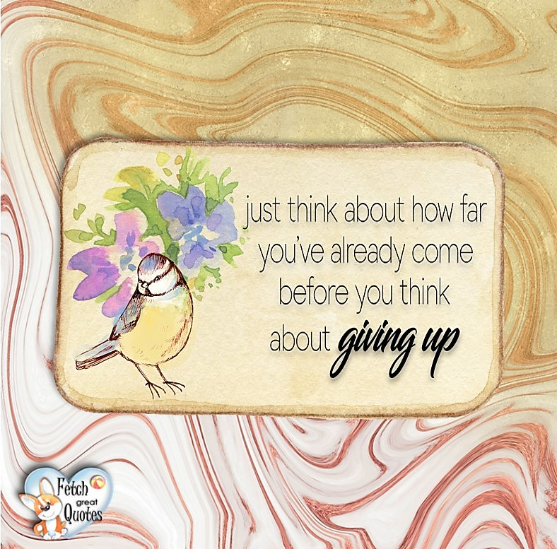 Just think about how far you've already come before you think about giving up., Words of Wisdom, Wise Words, Practical advice, common sense, common sense advice, inspirational photos, inspirational words, motivational photos, motivational words, motivational photos quote